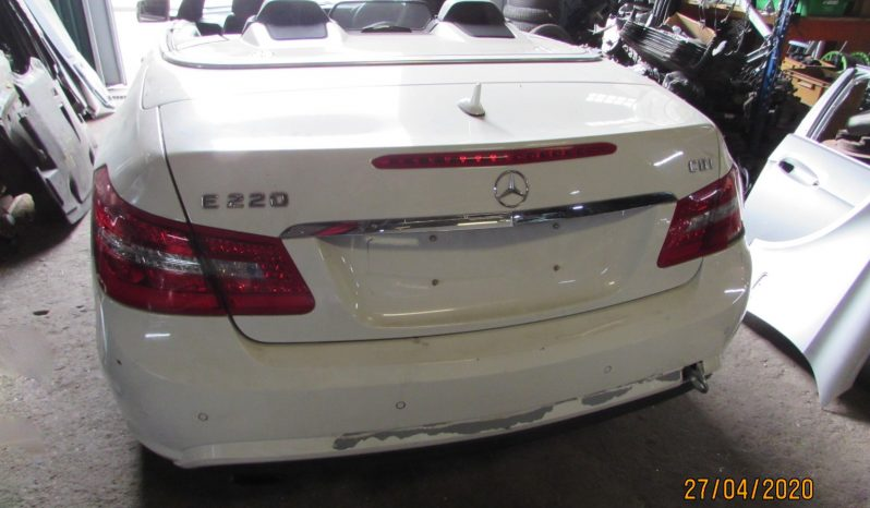 Mercedes E250 CDI Blueefficiency Cabrio W207 de 2010 para peças completo